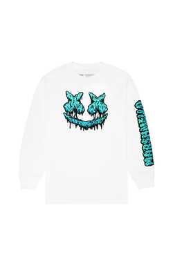 Slime Smile L/S T-Shirt LONG SLEEVE Mellogang S White