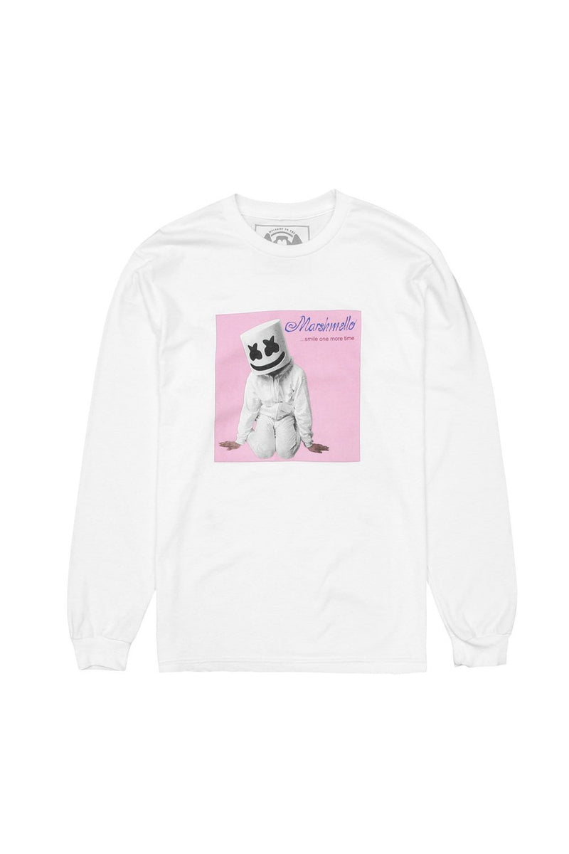 Smile One More Time L/S Shirt LONG SLEEVE MelloGang S White