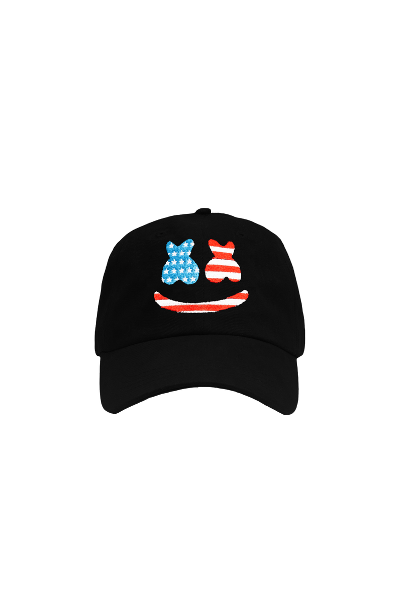 Striped Smile Dad Hat HEADWEAR Mellogang