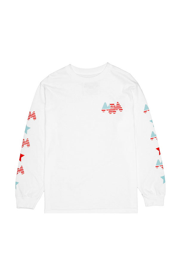 USA Mellogang 30 L/S Shirt LONG SLEEVE Mellogang S White