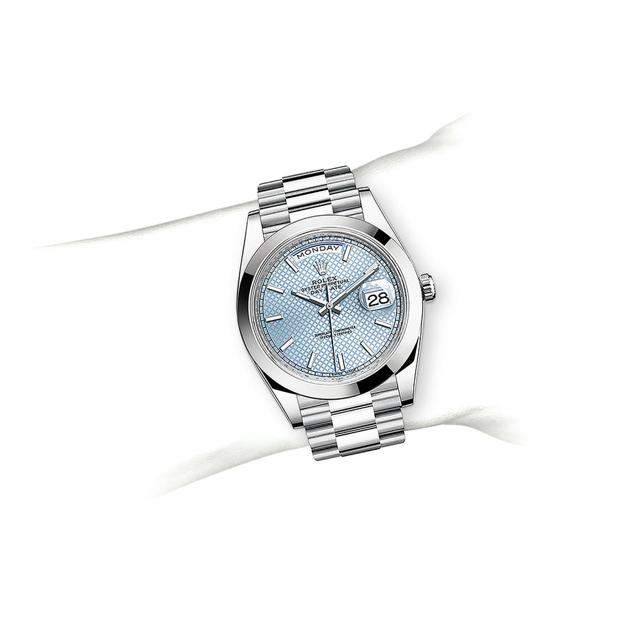 OYSTER PERPETUAL DAY-DATE 40 Oyster, 40 mm, platinum - watches-2019