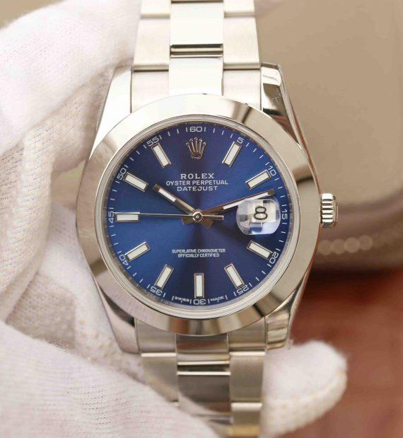 best replica Rolex DateJust Blue Dial 36mm 116200 Polished Bezel - Watches-2019