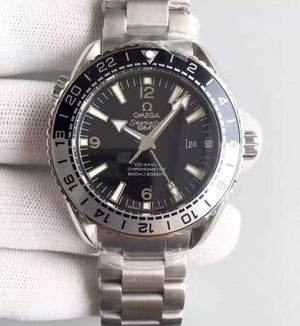 Omega Seamaster Planet Ocean Black & Silver Bezel Black Dial 215.30.44.22.01.001 - Watches-2019