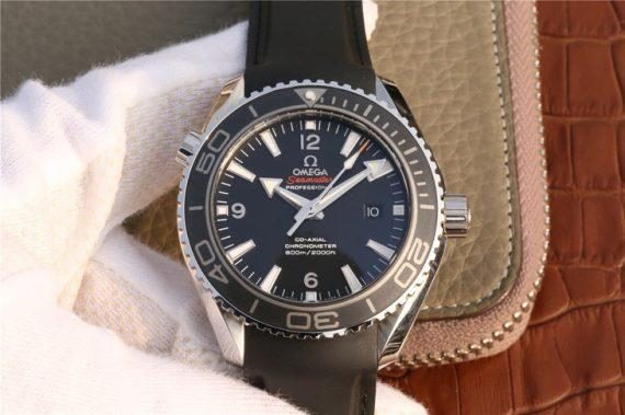 Omega Seamaster Planet Ocean Rubber Strap & Black 215.33.44.21.01.001 - Watches-2019