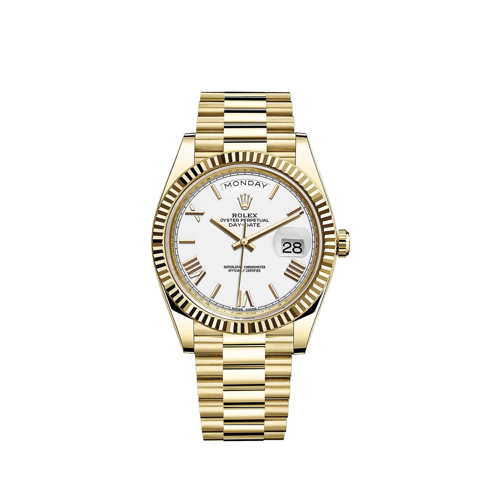 oyster perpetual day date 40 oyster 40mm yellow gold - Watches-2019