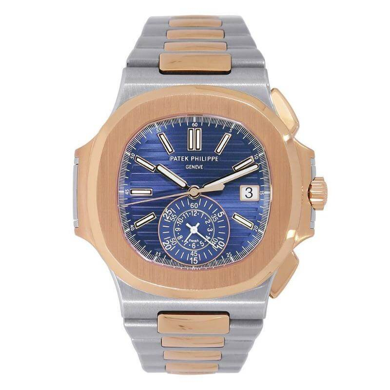 Patek Philippe Nautilus Rose Gold Blue Dial 40MM Watch 5980/1AR-001 - Watches-2019