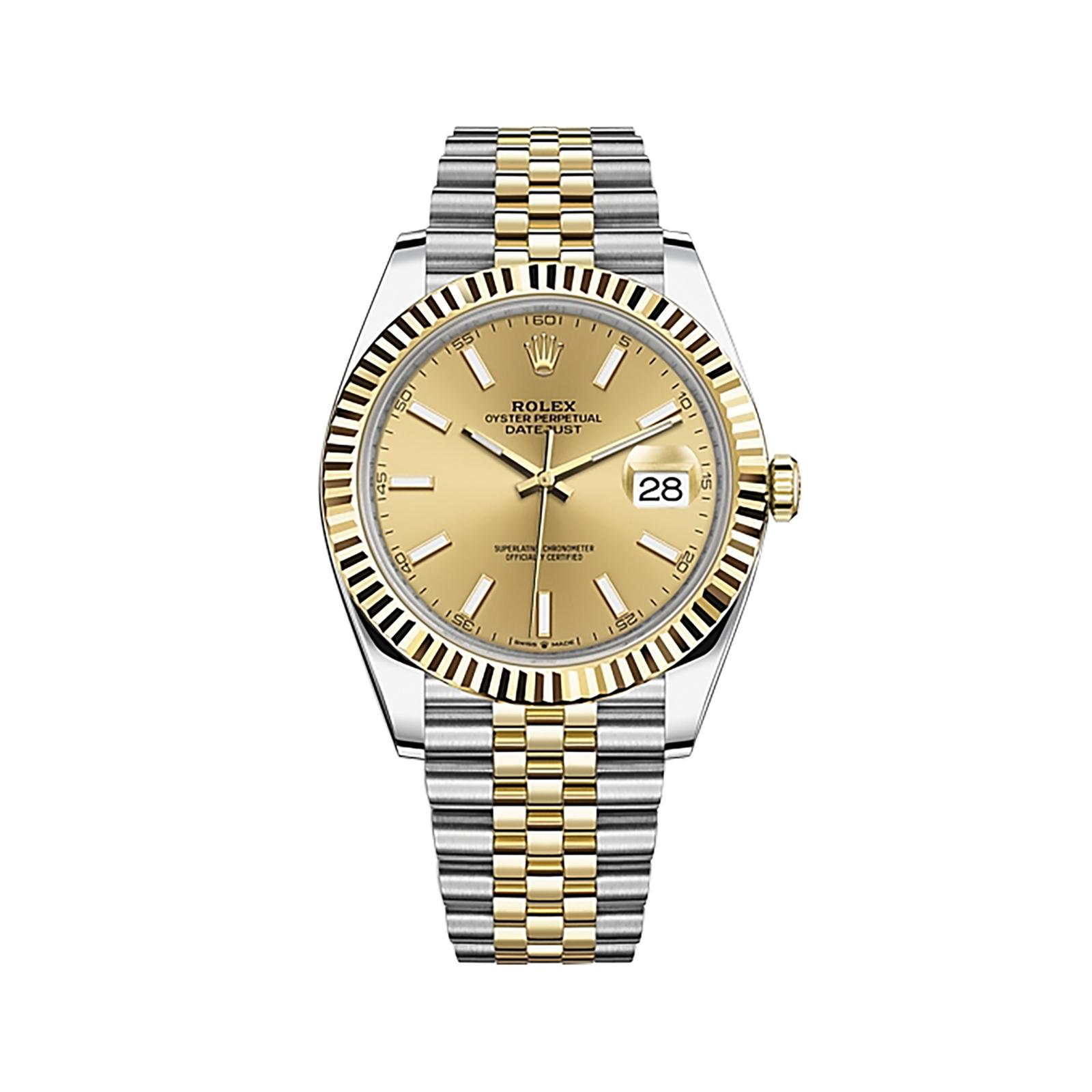 replica rolex DATEJUST 41 yellow gold 126333CSJ - Watches-2019