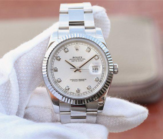 replica rolex DateJust 41mm 126334 Fluted Bezel White Dial Diamonds Markers Bracelet- Watches-2019
