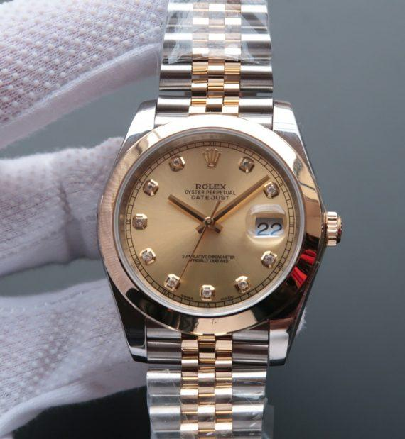 replica rolex DateJust 41mm Wrapped Dial Diamonds Markers Bracelet 126303 - Watches-2019