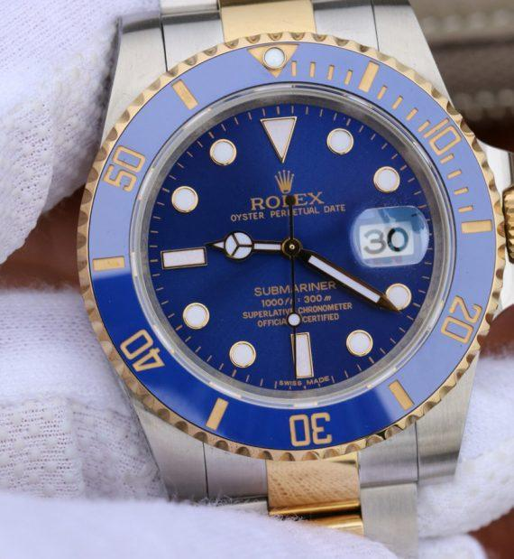 replica rolex Submariner 116613 LB Yellow Gold - Watches-2019