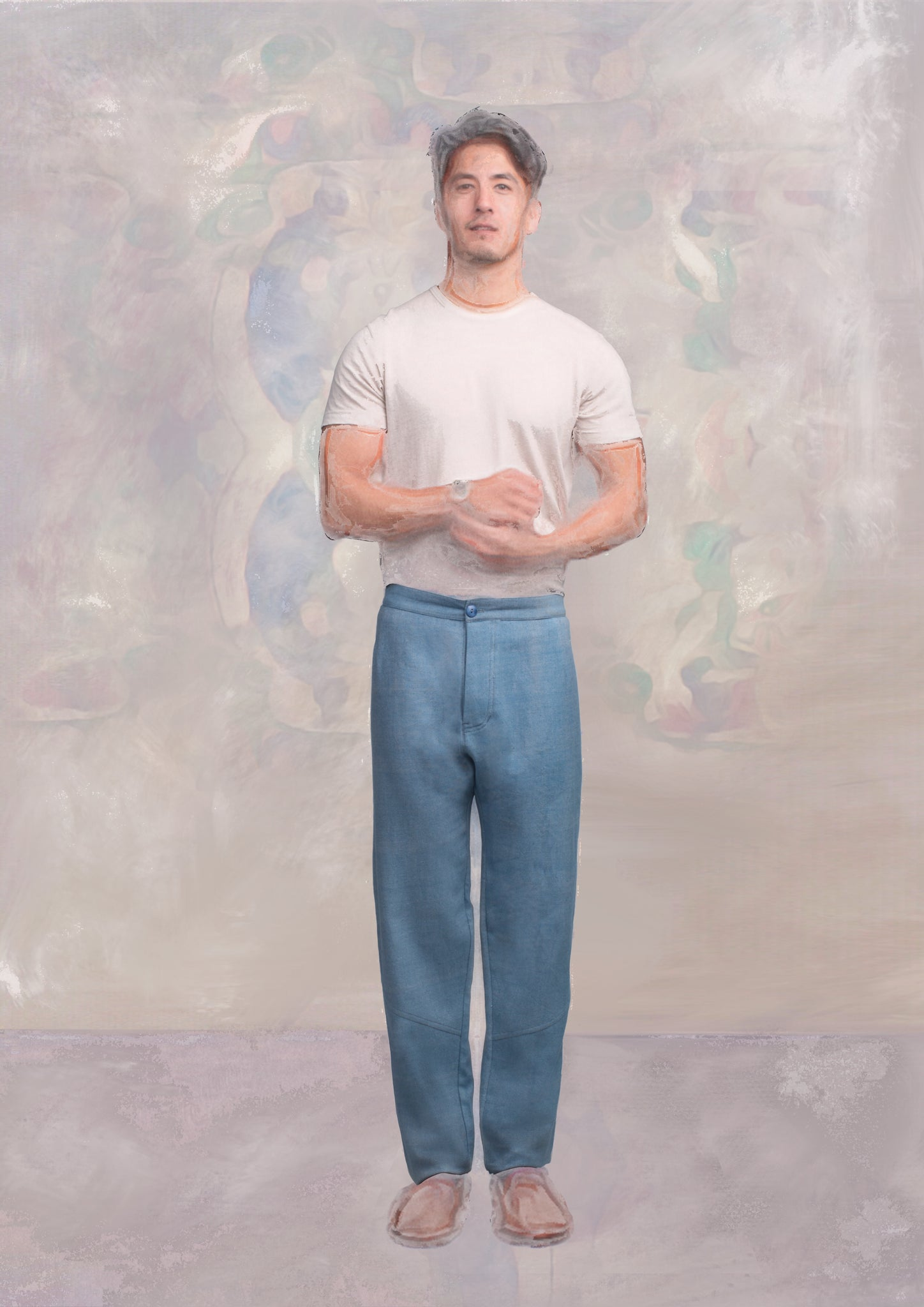 Kurta Pant, Light Indigo