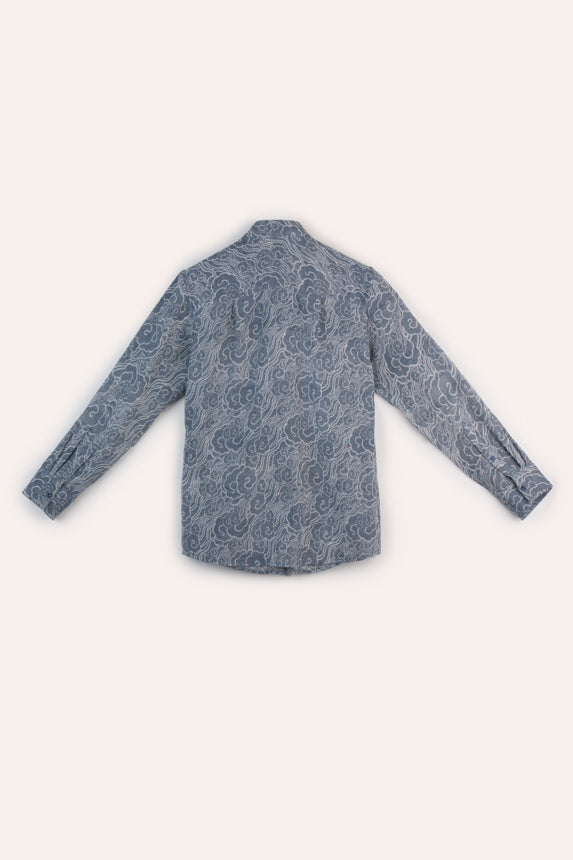 Thangka Cloud Shirt, Dark Indigo