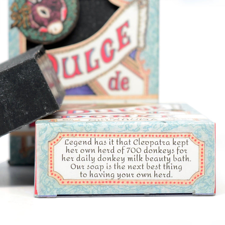 Pre-order for December 13: Christmas Lump O' Coal (Activated Charcoal) Donkey Milk Soap 4.5 oz