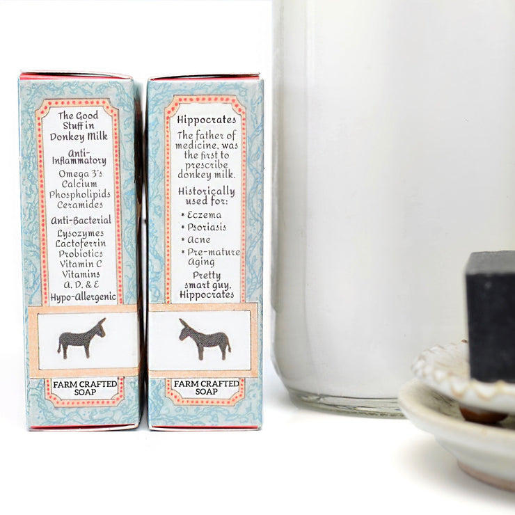 Activated Charcoal Donkey Milk Soap 4.5 oz