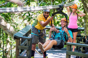 Canopy Flier Zip Rail & Splash Mountain Jungle Water Slide and Sand Dunes