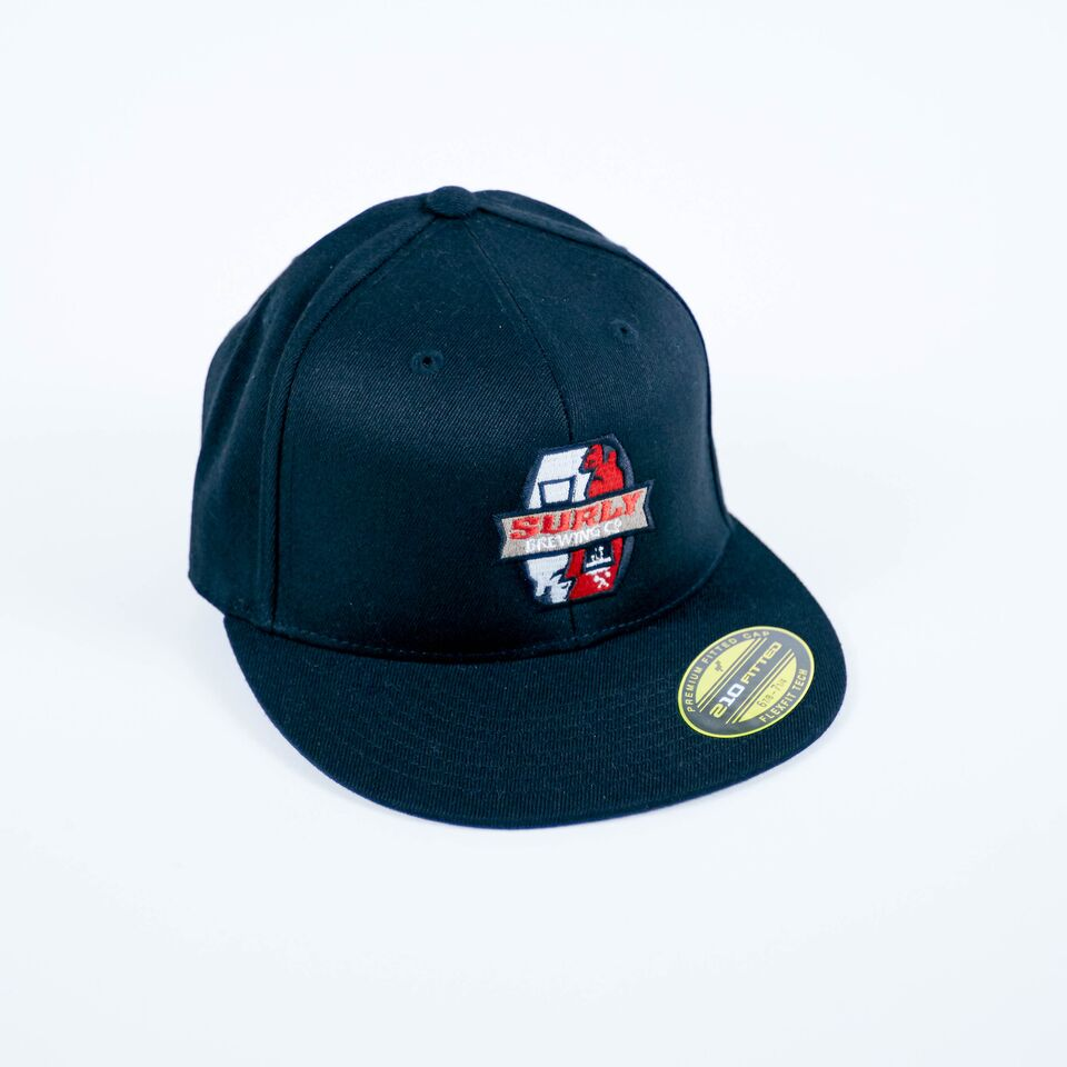 Surly Badge Logo Flat Bill Flexfit Hat