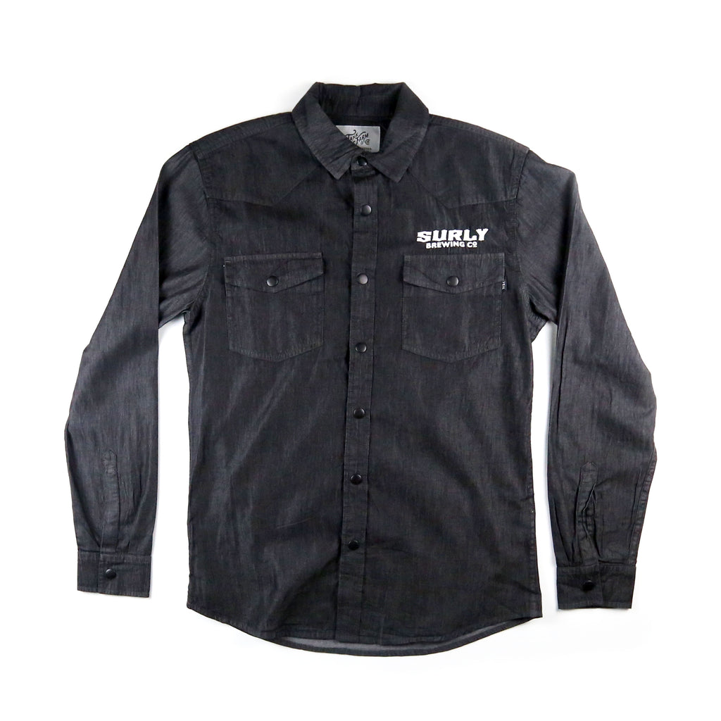 Mens Western Shirt - Black