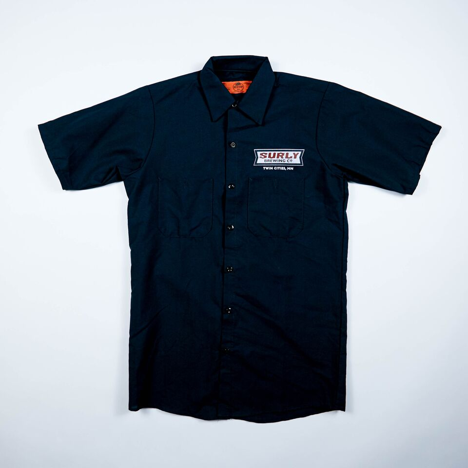 Men's Badge Logo Brewer Work Shirt  - Black