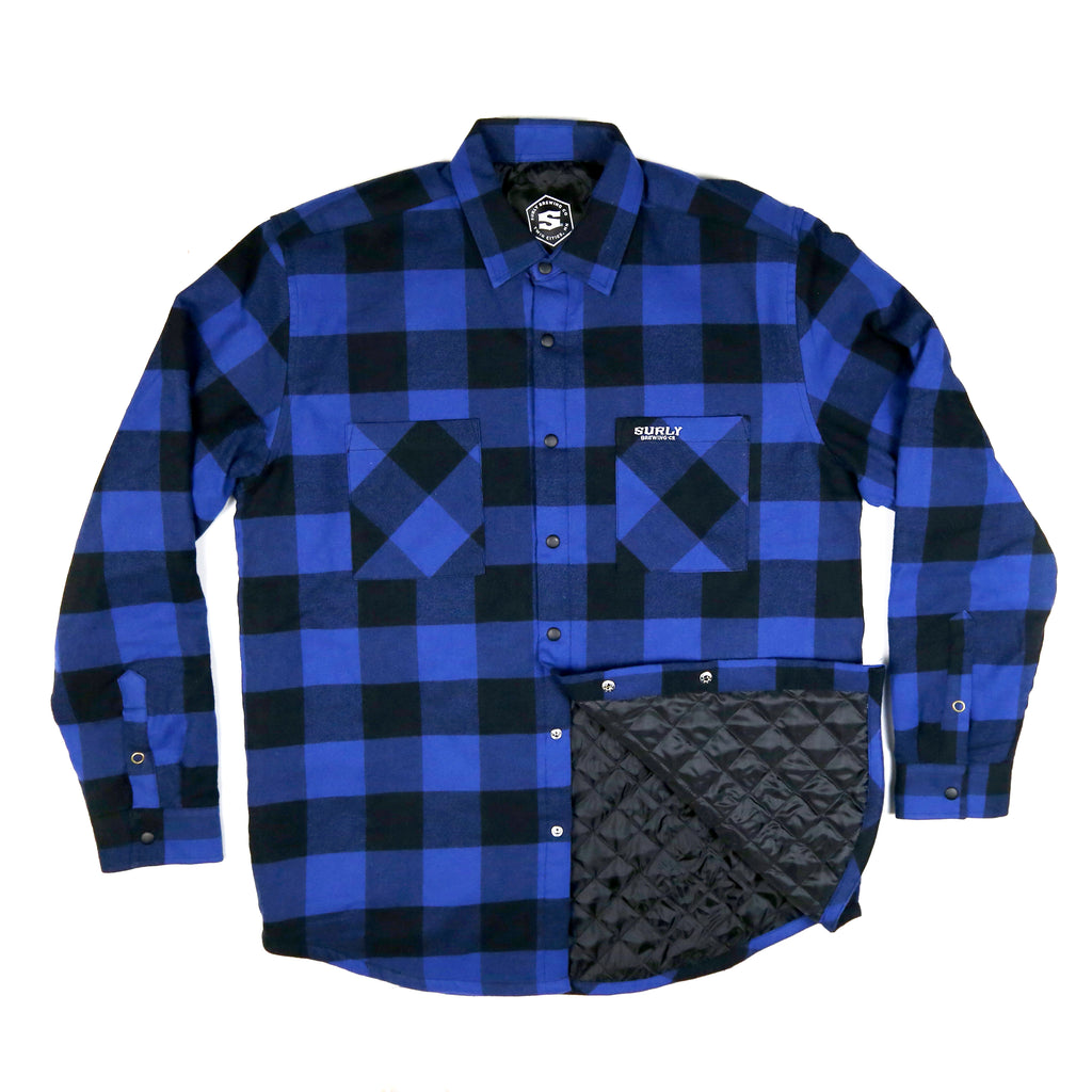Surly Quilted Flannel - Black/Blue