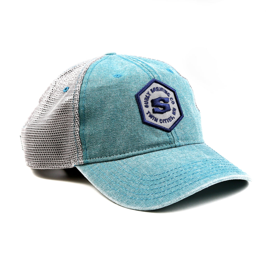 Legacy Hex Trucker Hat - Teal/Gray