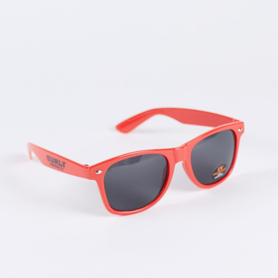 Text Logo Sunglasses - Red