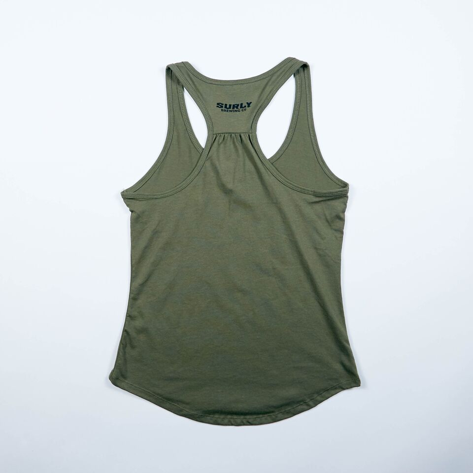 Women's Get Surly Tank - Military Green