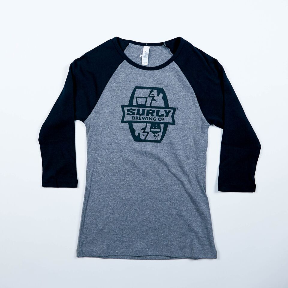 Women's Badge Logo Outline Raglan