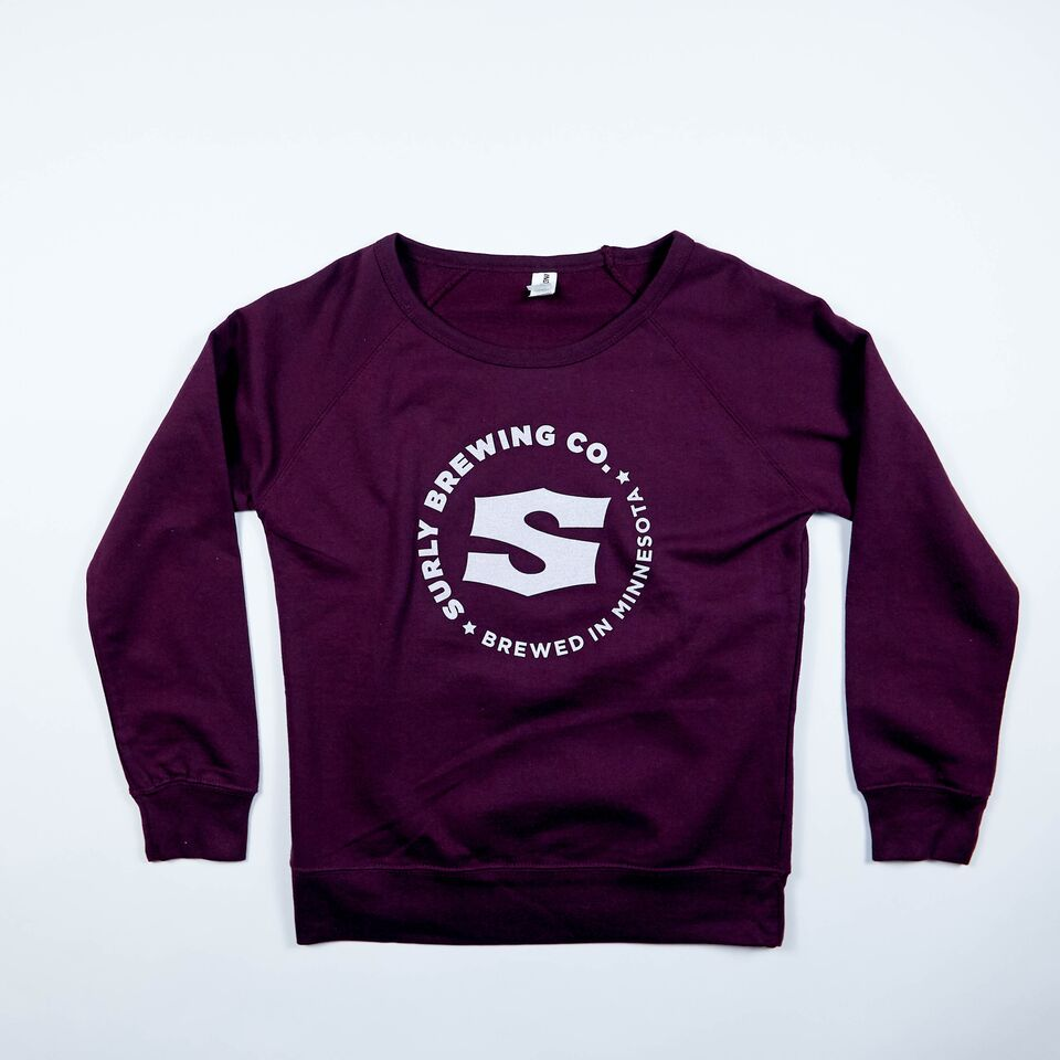 Women's S Logo Crew Neck Sweatshirt - Berry