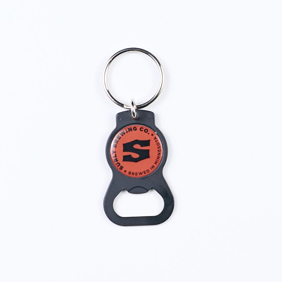 'S' Logo Bottle Opener Keychain - Red