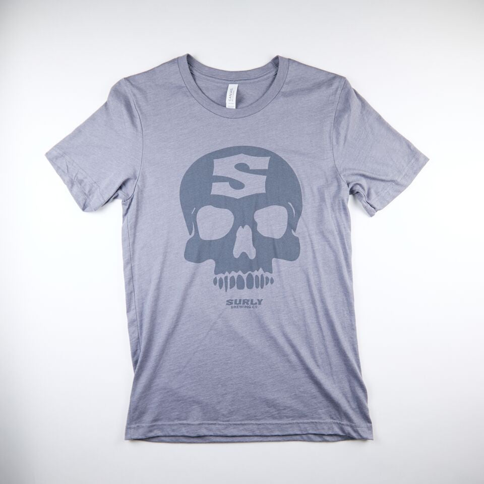 Skull Tee - Light Gray