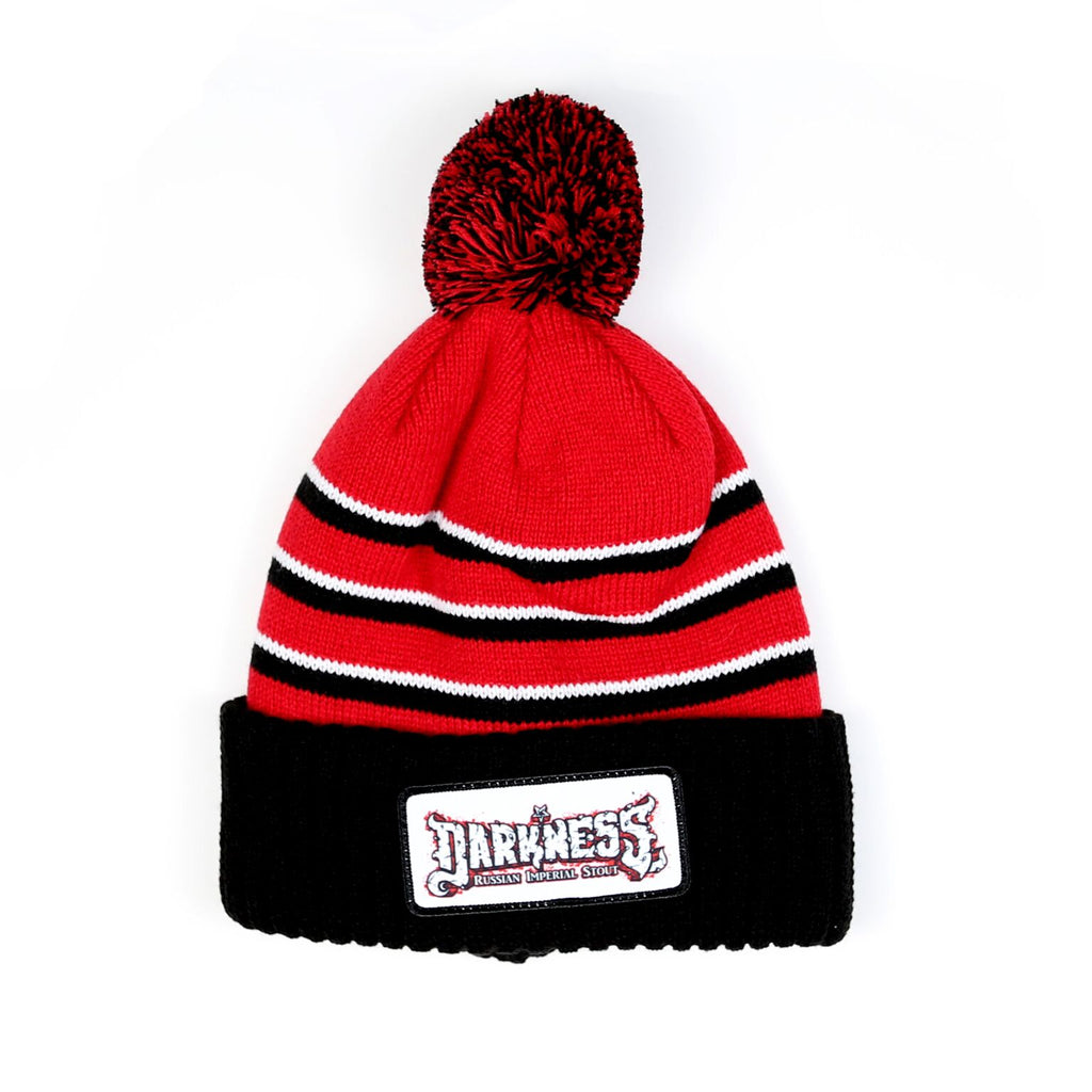 2019 Darkness Patch Pom Beanie - Black