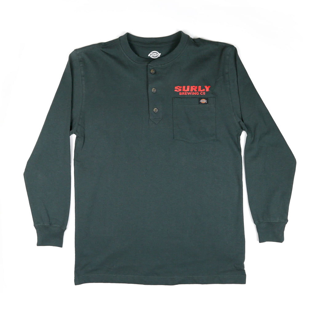 Dickies Surly Logo Henley - Green