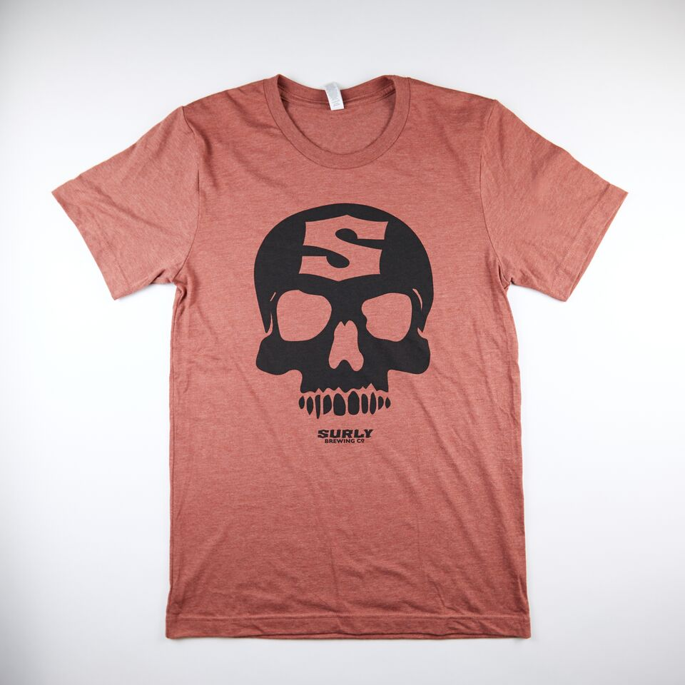 Skull Tee - Heather Clay