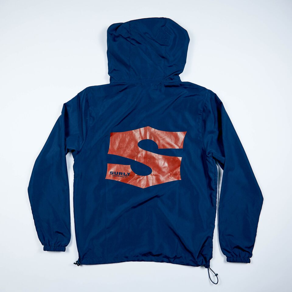 S Logo Wind Breaker - Navy