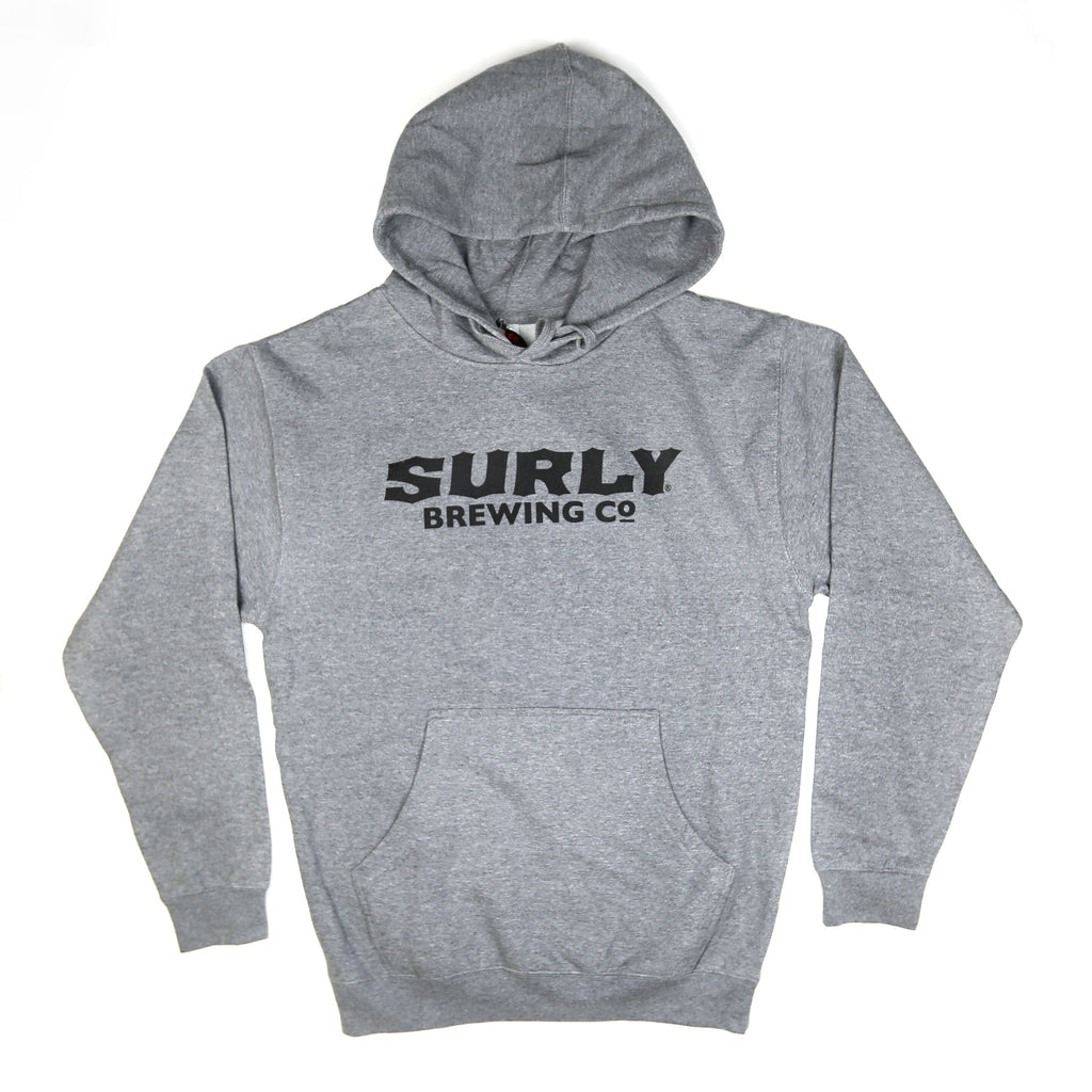 Men's Text Logo Pullover Hoodie  - Gunmetal Heather