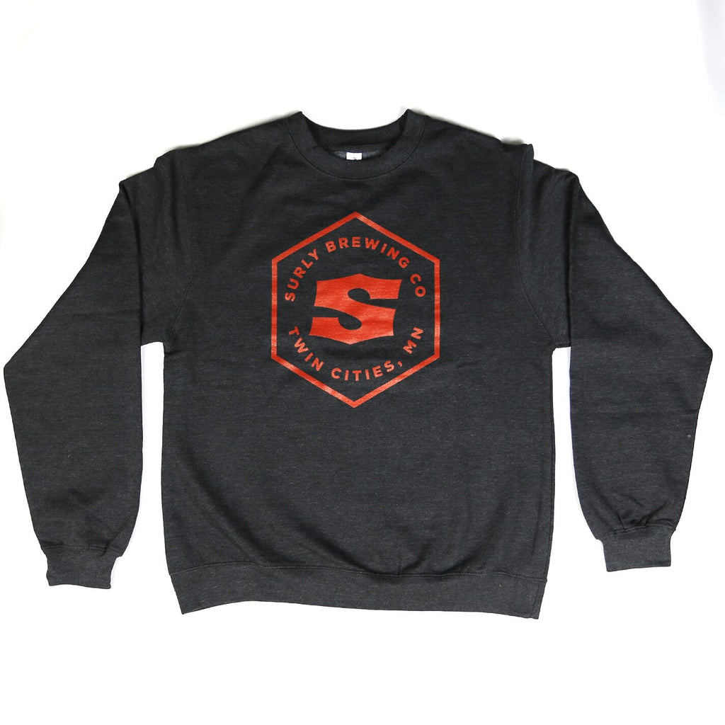 Men's Hex Logo Crewneck Sweatshirt - Charcoal