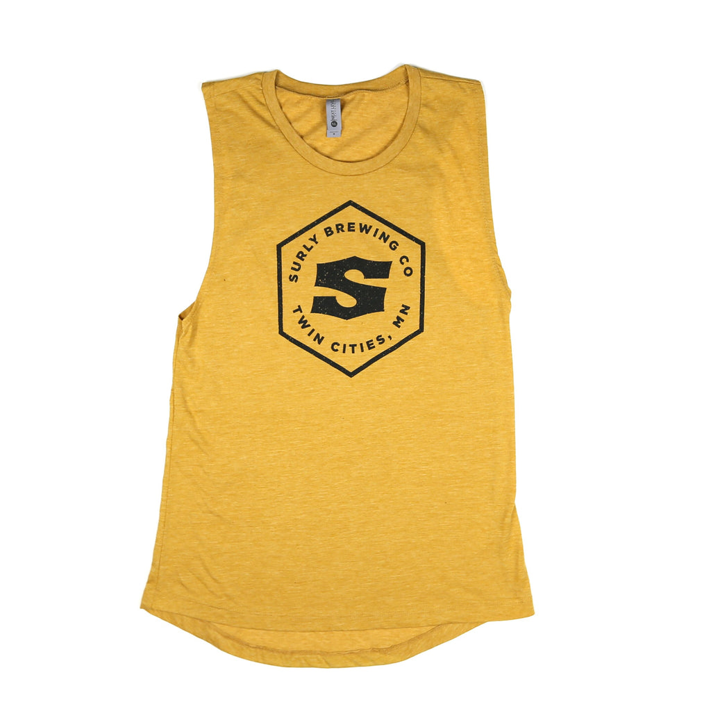 Women's Hex Logo Muscle Tank - Antique Gold