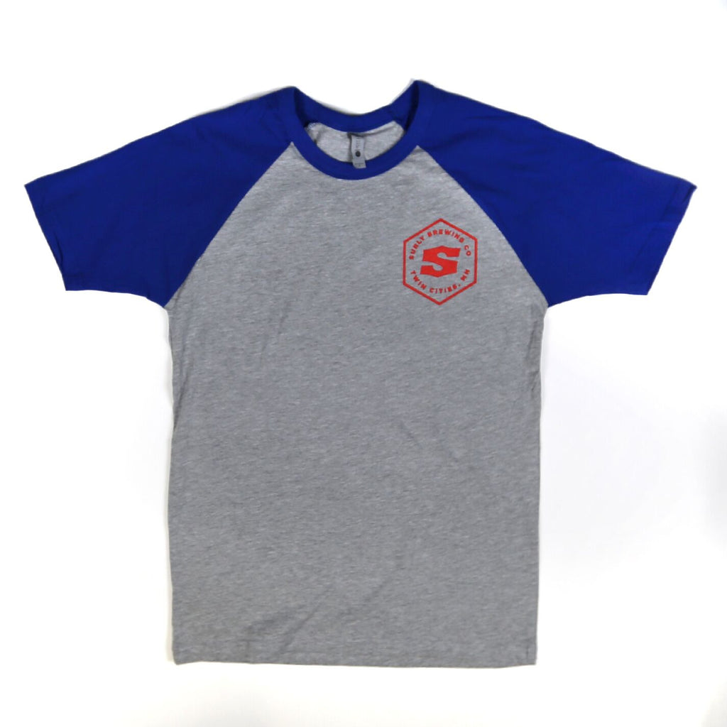 Men's Hex Raglan Tee - Royal Blue