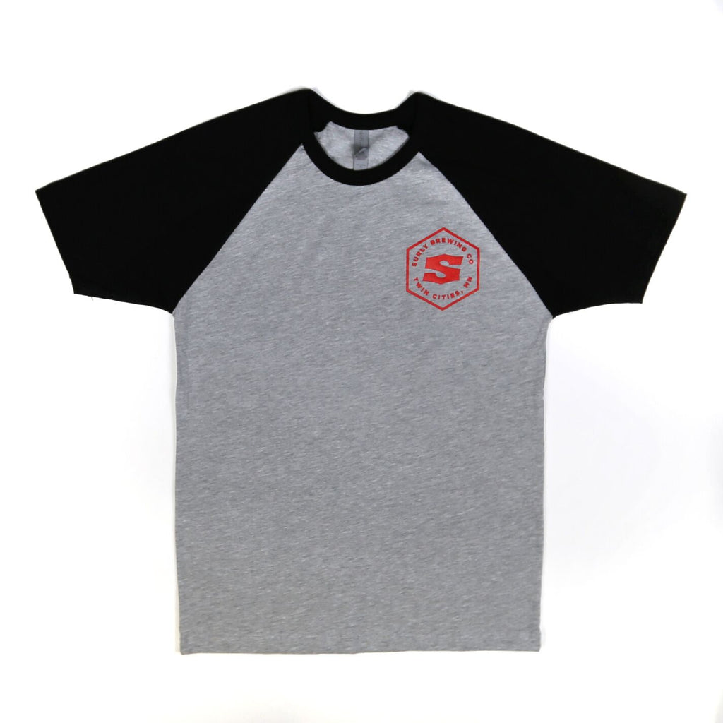 Men's Hex Raglan Tee - Black