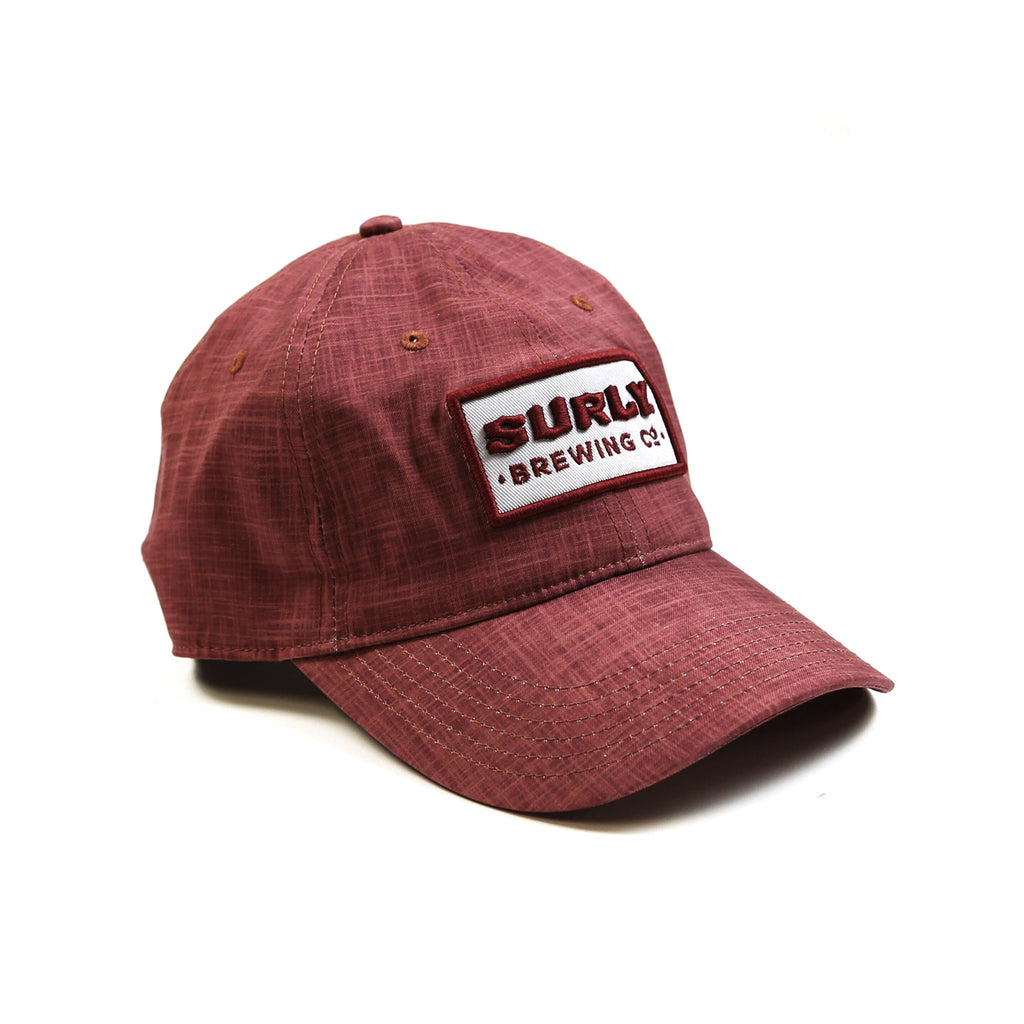 Recycled Surly Text Hat - Burgundy