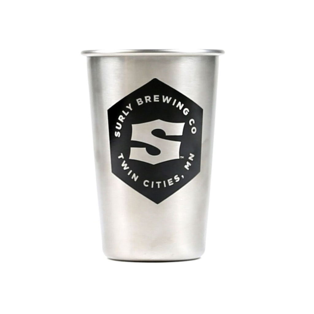 Surly Hex Logo Stainless Steel Pint - Brushed