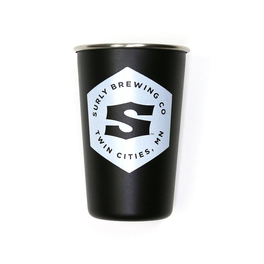 Surly Hex Logo Stainless Steel Pint - Matte Black