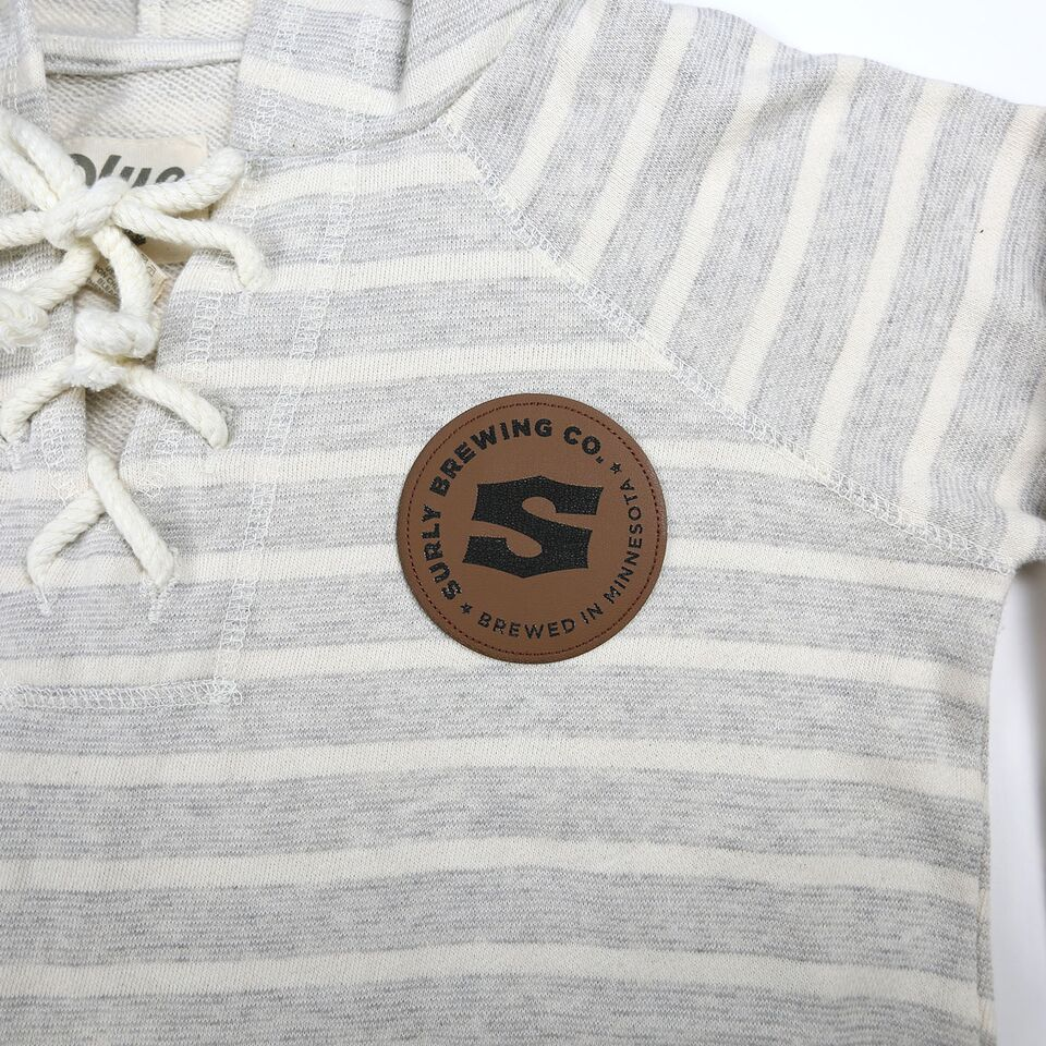 Striped S Logo Patch Hoodie