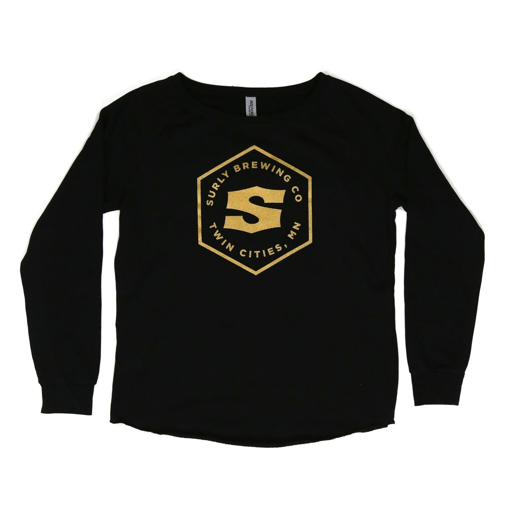 Surly Hex Logo Crew - Black