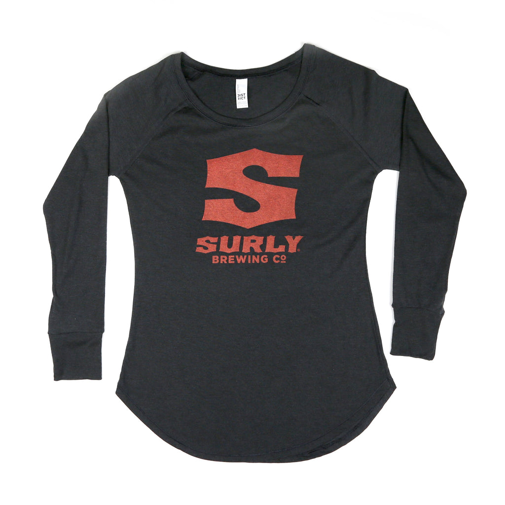 Women's S Logo Long Sleeve - Black