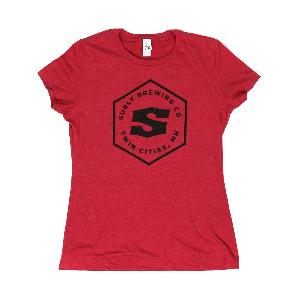 Women's Hex Logo Tee  - Red