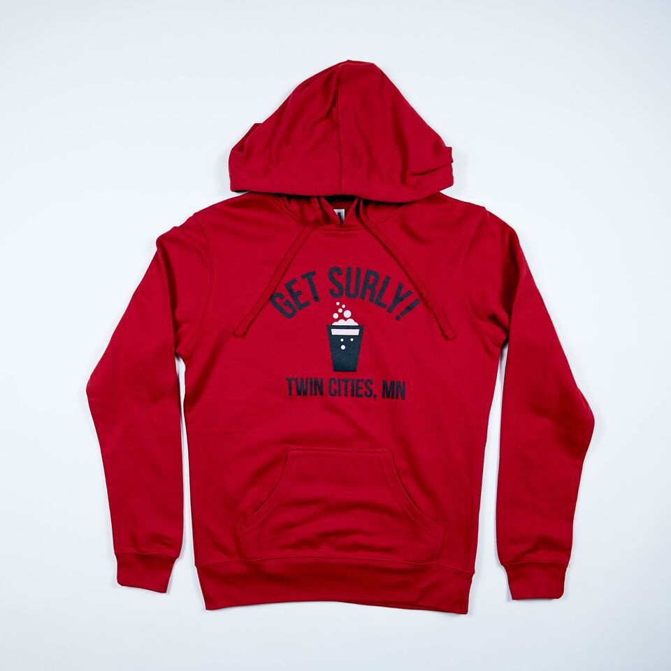 Get Surly Hoodie - Red