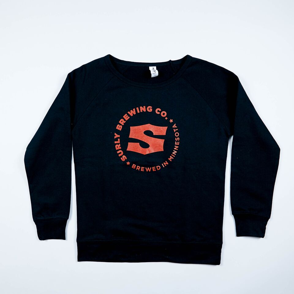 Women's S Logo Crew Neck Sweatshirt - Black