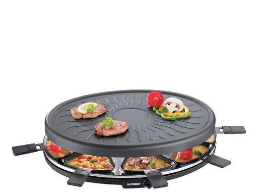 Severin Raclette 8 pers. 1100 watt. Sort