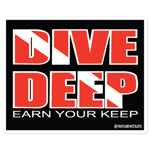 Dive Deep Sticker